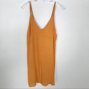 LA Hearts   mustard yellow flowy mini dress L